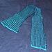 bi-color tweed stitch scarf pattern