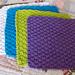 Kitchen Dishcloth ~ Double Seed Stitch pattern