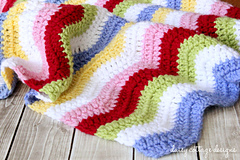 Crochet Baby Blanket with ripples