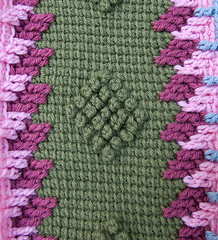 Pine Tree afghan - in progress