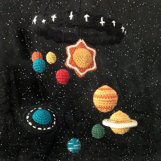 Ravelry: Solar System Mobile pattern by NeedleNoodles