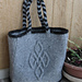 P635 Felted Purse with Celtic Knot pattern