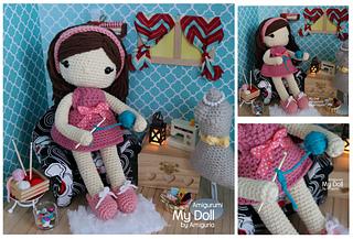 Ravelry: Mariflower - Ladybug amigurumi doll pattern by Marta Ruso ...   217x320