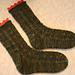 Tic-Tac-Toe-Up Socks pattern