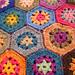 hex granny square pattern