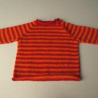 red and orange raglan