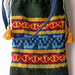 Simple Color Patterned Bag with Islamic Motifs pattern