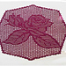 Eight-cornered rose doily / Rosendeckchen 8-eckig pattern