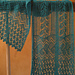 Scarf with French Trellis Border from Weldon's 1890 and Bramble Leaf Center pattern