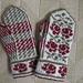 Wild Roses Mitten Kit pattern