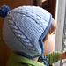 Cabled Hat with Earflaps pattern