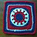 Patriotic Sunburst pattern