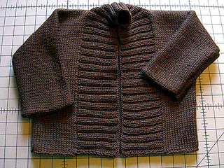 chocolate brown ribbed baby sweater