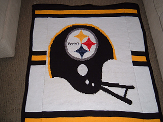 Ravelry Nfl Steelers Afghan Pattern By Patricia Marks