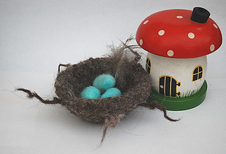 felted bird's nest 002