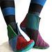 8-square socks - 8 neliön palatossut pattern