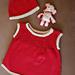 28-BK2 Baby jumper-skirt & cap pattern