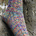 Feuille Cablée Socks pattern