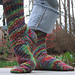 Toasty Twist Socks pattern