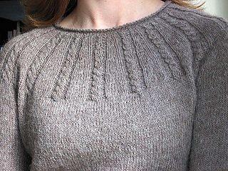 Cabled Yoke Pullover