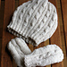 Cabled Baby Hat and Mittens Set pattern
