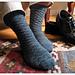 Gentleman's Sock with Lozenge Pattern pattern