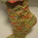 Socks Socken wave on spring pattern