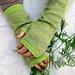 Long Striped Hand Warmers pattern