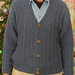 V-Necked Aran Cardigan pattern