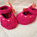 BABY SHOES MARY JANE WITH RIBBON pattern