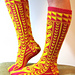 Vertically Patterned Turkish Stockings - 17 pattern