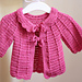 Candy Pink Baby Cardigan pattern