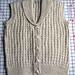 Shawl-Collared Vest pattern