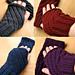 Darting Diagonals Fingerless Gloves pattern