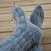 Double Basket Socks pattern