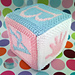 Baby building block cube pattern