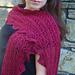 Weeping Scarlet Shawlette pattern