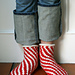 Candy Cane Bedroom Socks pattern