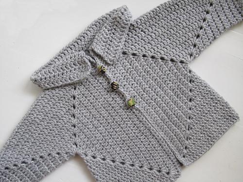Sue's No-Holes Hexagon Baby Sweater