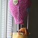 Virkatut pupu,possu ja kuumailmapallo pattern