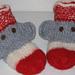 Loom Knit Sock Monkey Slippers Felted pattern