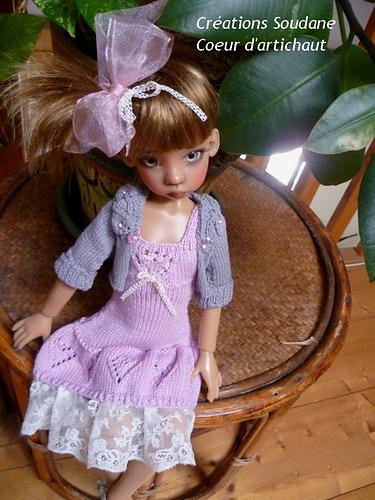 "12/"" Kish or BJD Doll Pattern for Ruffled Dress Hat"