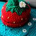 Strawberry Newborn Beanie Hat pattern