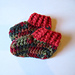 Rib Cuff Crochet Baby Booties pattern