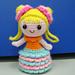 Pencil topper – little girl with bun hair pattern