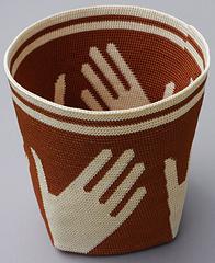 Handy Basket Crocheted Left Handed