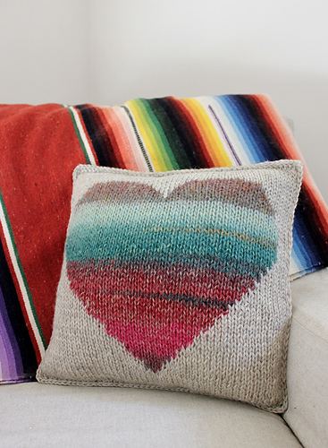 Ravelry Watercolor Heart Pillow Pattern By Jody Rice