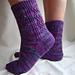 Octarine Socks pattern