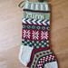 Holly & Snowflake Stocking pattern