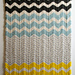 Chevron Baby Blanket in Merino pattern